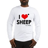 I Love* Sheep Long Sleeve T-Shirt