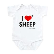 I Love* Sheep Infant Bodysuit