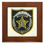 Orange County Sheriff Framed Tile