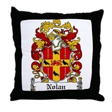 Nolan Coat of Arms Throw Pillow