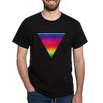 RAINBOW TRIANGLE Black T-Shirt