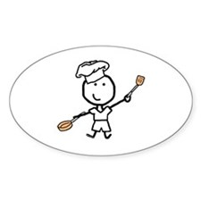 Boy & Chef Oval Decal