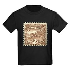 Cowboy 2 Cent Stamp Kids Dark T-Shirt