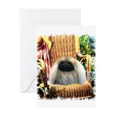 Pekingese Art Greeting Card