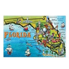 Cute Florida Postcards (Package of 8)