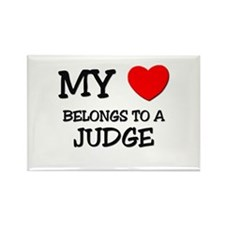 My Heart Belongs To A JUDGE Rectangle Magnet (10 p