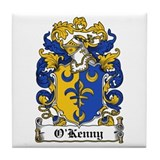 O'Kenny Coat of Arms Tile Coaster
