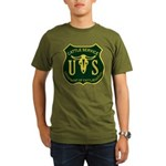 US Cattle Service Organic Men's T-Shirt (dark)