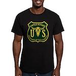 US Cattle Service Men's Fitted T-Shirt (dark)