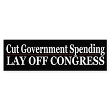 Lay Off Congress - Bumper Bumper Sticker