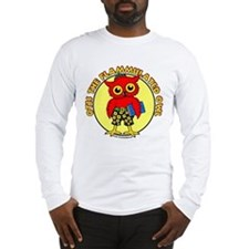 Otis the Flammulated Owl Long Sleeve T-Shirt
