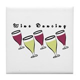 Wine Dancing Tile Coaster