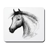 Black Line Horse Mousepad