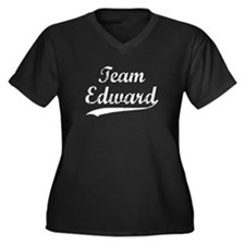 Team Edward Women's Plus Size V-Neck Dark T-Shirt