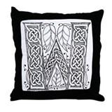Celtic Letter W Throw Pillow