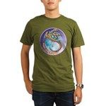 Magic Moon Dragon Organic Men's T-Shirt (dark)