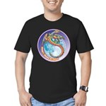 Magic Moon Dragon Men's Fitted T-Shirt (dark)
