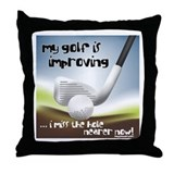 Golf Improving Throw Pillow