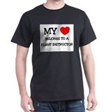 My Heart Belongs To A FLIGHT INSTRUCTOR T-Shirt