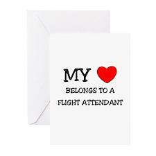 My Heart Belongs To A FLIGHT ATTENDANT Greeting Ca