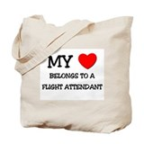 My Heart Belongs To A FLIGHT ATTENDANT Tote Bag