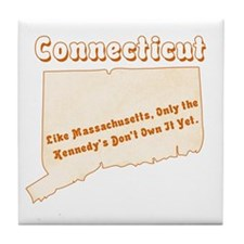 Vintage Connecticut Tile Coaster