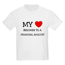 My Heart Belongs To A FINANCIAL ANALYST T-Shirt