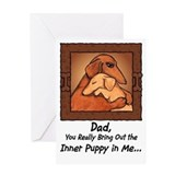 Dachshund Dad Greeting Card