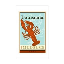 Travel Louisiana Rectangle Decal
