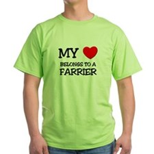 My Heart Belongs To A FARRIER T-Shirt