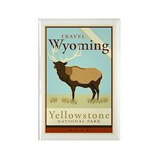 Travel Wyoming Rectangle Magnet