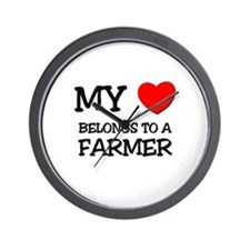 My Heart Belongs To A FARMER Wall Clock