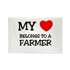 My Heart Belongs To A FARMER Rectangle Magnet (10