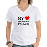 My Heart Belongs To A FARMER Shirt