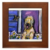 wheaten eyes butterfly Framed Tile