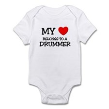 My Heart Belongs To A DRUMMER Infant Bodysuit