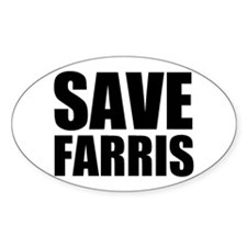 Save Farris Oval Sticker (50 pk)
