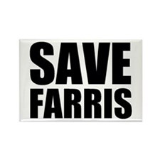 Save Farris Rectangle Magnet