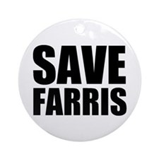 Save Farris Ornament (Round)