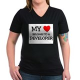 My Heart Belongs To A DEVELOPER Shirt