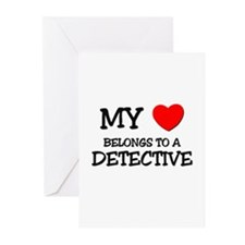 My Heart Belongs To A DETECTIVE Greeting Cards (Pk