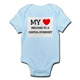 My Heart Belongs To A DENTAL HYGIENIST Infant Body