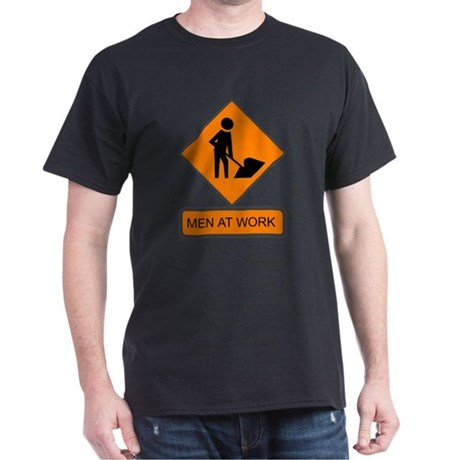 Men at Work 2 Black T-Shirt