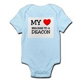 My Heart Belongs To A DEACON Onesie