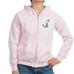Springing Cat Women's Zip Hoodie