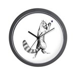 Springing Cat Wall Clock