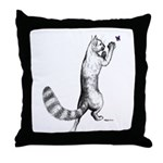 Springing Cat Throw Pillow