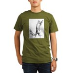Springing Cat Organic Men's T-Shirt (dark)