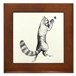 Springing Cat Framed Tile