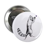 "Springing Cat 2.25"" Button (10 pack)"